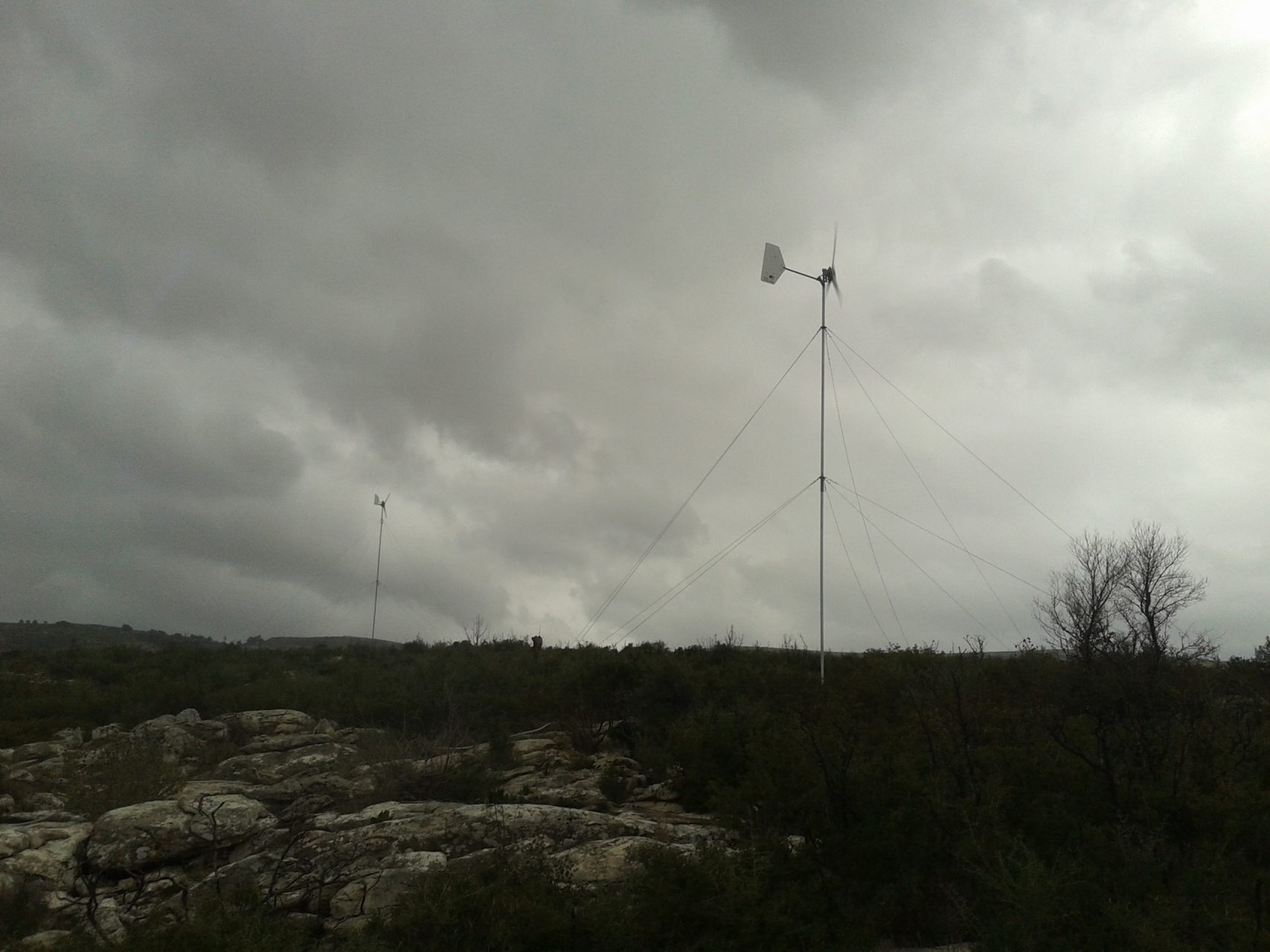 Small wind turbine installation in Marathonas