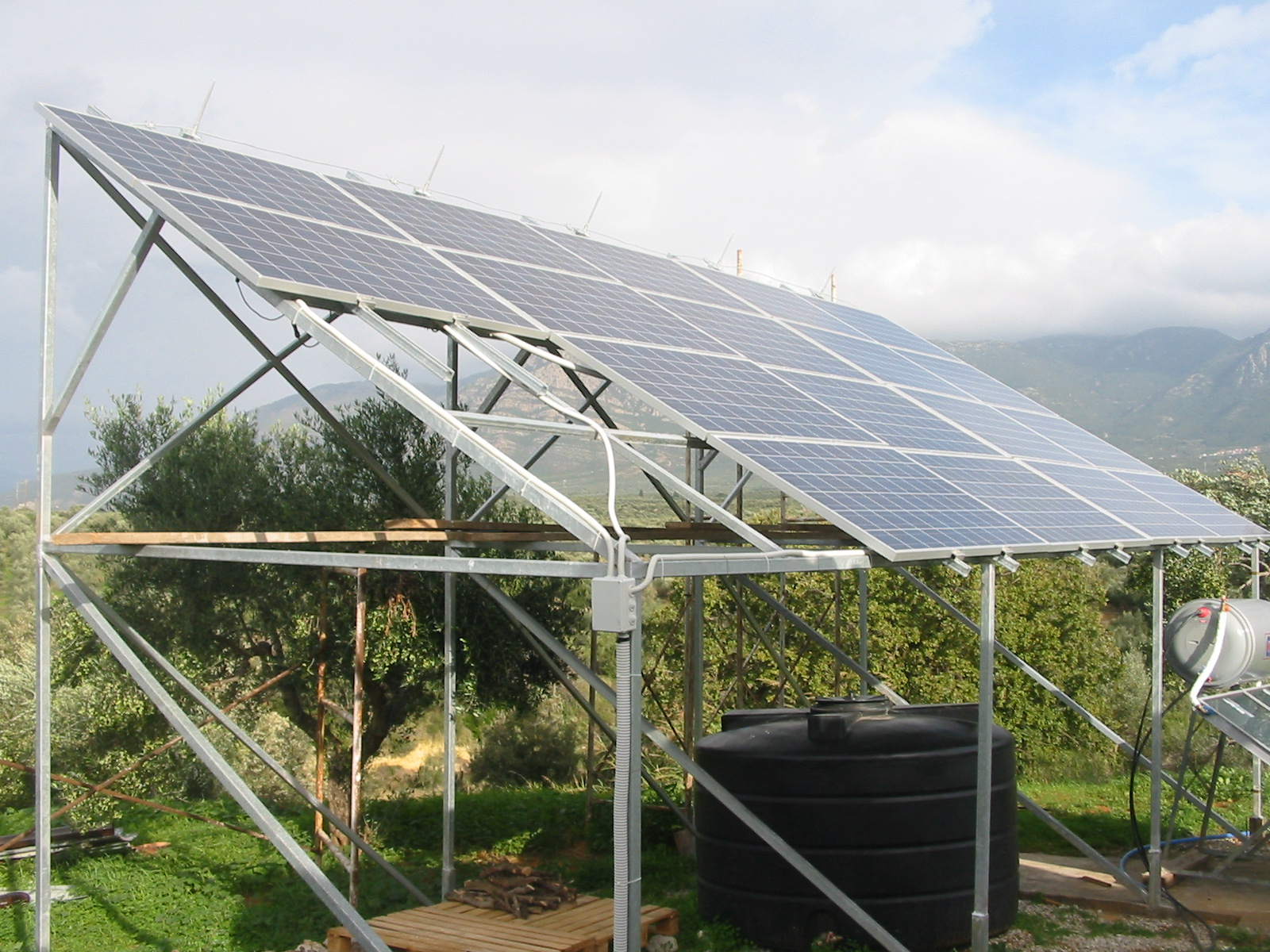 Photovoltaic installation in Filiatra